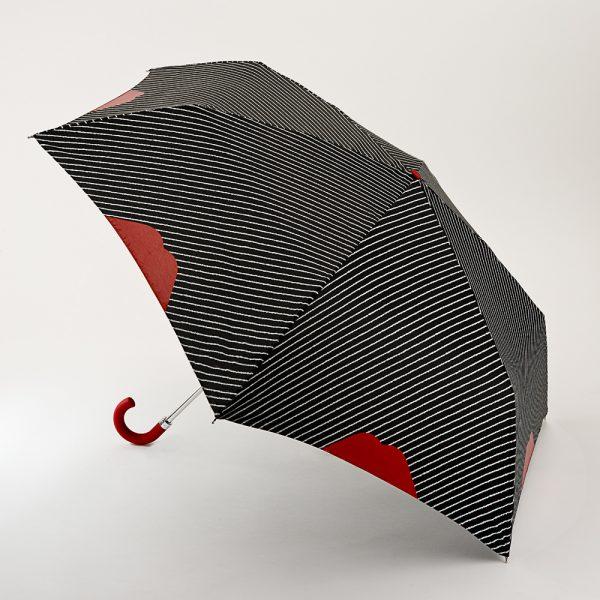 Lulu Guinness Pinstripe Lips Handbag Umbrella -0
