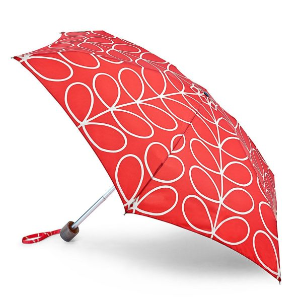 Orla Kiely Linear Leaf Red Tiny Umbrella -0
