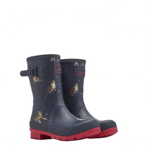 Joules Dogs Print Mid Height Wellington Boots-0