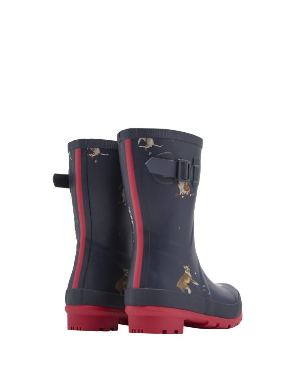 Joules Dogs Print Mid Height Wellington Boots-2858