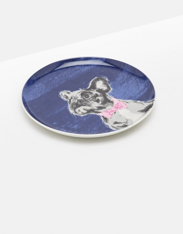 Joules Pawcasso Bowie French Bulldog Tea Plate Gift Boxed-0