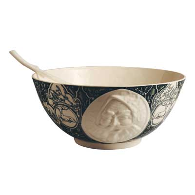 Hartley Greens Leeds Pottery Classical Christmas Large Decorated Bowl-0