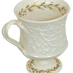Hartley Greens Leeds Pottery Classical Christmas Decorated Coffee Cup -0