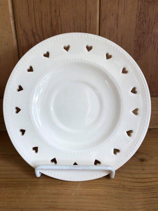 Hartley Greens & Co Leeds Pottery Heart Pierced Saucer-0
