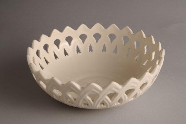 Hartley Greens Leeds Pottery 6 1/4 Inch Basket-0