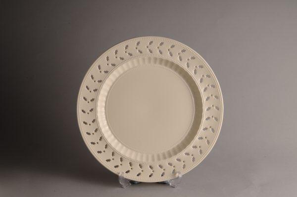 Hartley Greens & Co Leeds Pottery Holly Pierced Salad Plate-0