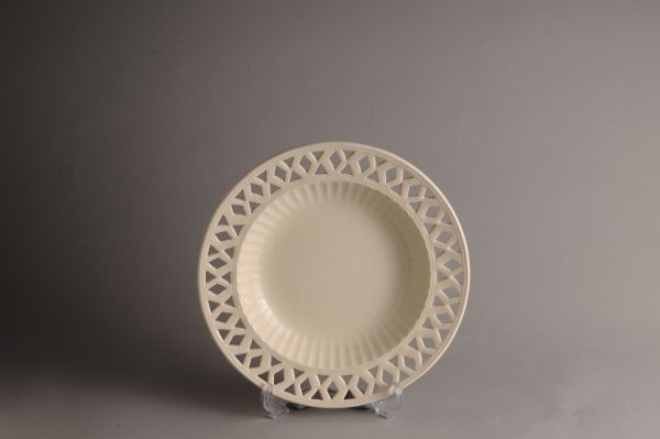 Hartley Greens & Co Leeds Pottery Openwork Soup Dish-0