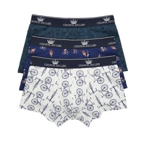 Joules Crown Joules Great Ride Printed Boxers, 3 Pack-0