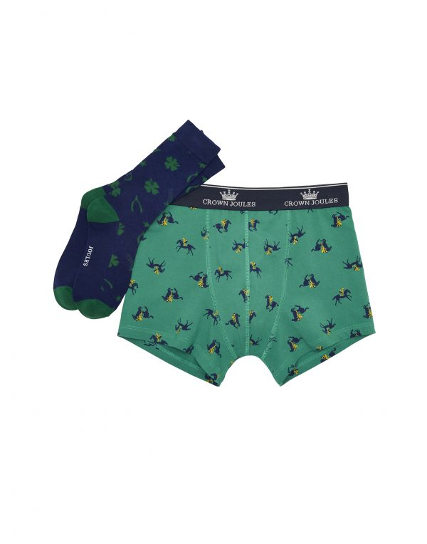 Joules Put A Sock In It Race Day Gift Set - Socks & Boxer Shorts-0
