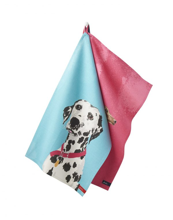 Joules Thea Pawcasso Set Of 2 Tea Towels - Dalmation & Dachshund-0
