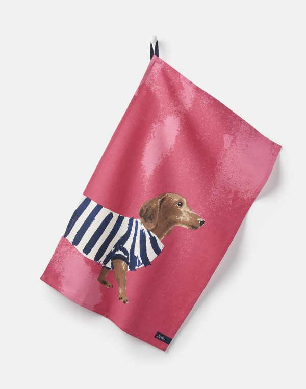 Joules Thea Pawcasso Set Of 2 Tea Towels - Dalmation & Dachshund-2903
