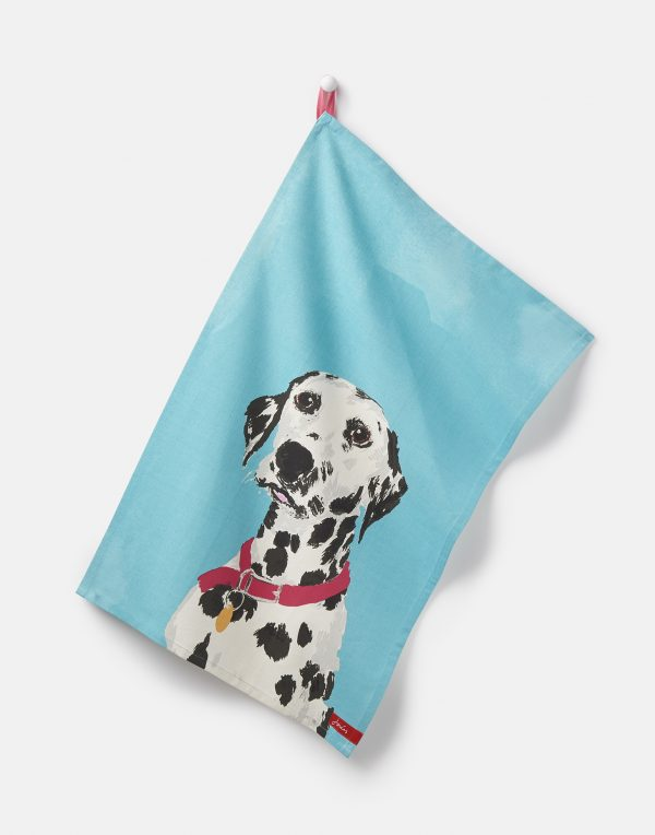 Joules Thea Pawcasso Set Of 2 Tea Towels - Dalmation & Dachshund-2902