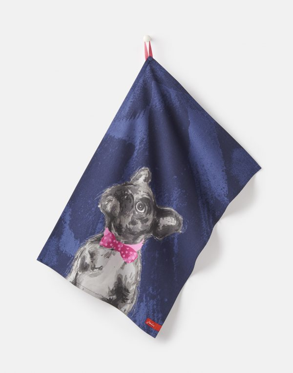 Joules Thea Pawcasso Set Of 2 Tea Towels - Chocolate Labrador & French Bull Dog-2953