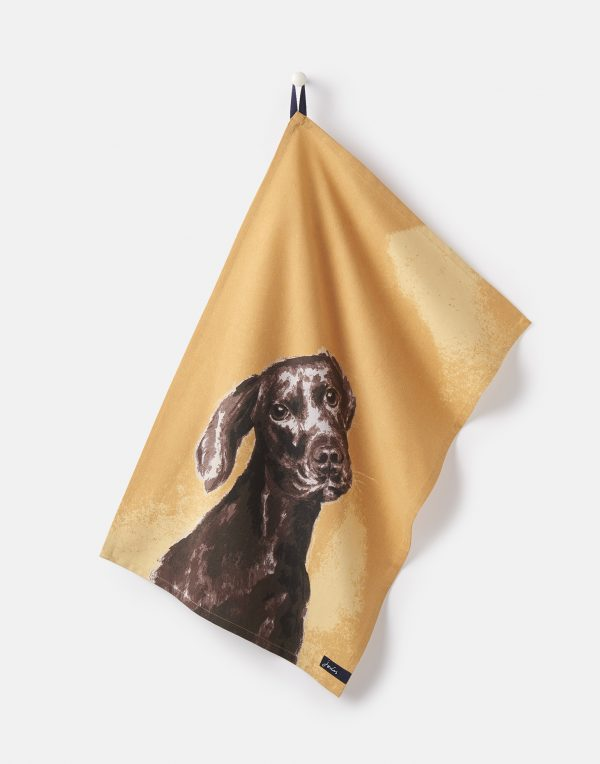 Joules Thea Pawcasso Set Of 2 Tea Towels - Chocolate Labrador & French Bull Dog-2955
