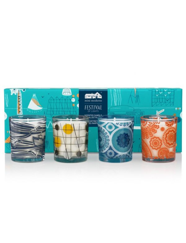 Mini Moderns Festival Of Lights Mini Candle Gift Set -0