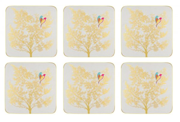 Sara Miller Chelsea Lovebirds Set Of 6 Coasters -0