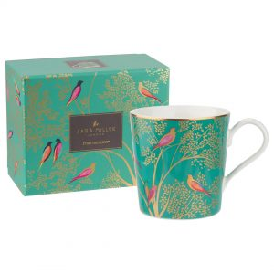 Sara Miller Green Birds Mug, Gift Boxed-0