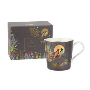 Sara Miller Grey Birds Mug, Gift Boxed-0