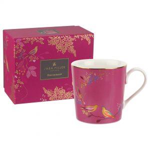 Sara Miller Pink Birds Mug, Gift Boxed -0
