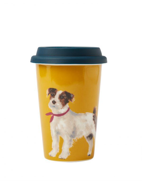Joules Jack Russell Terrier Dog Ceramic Travel Mug-0