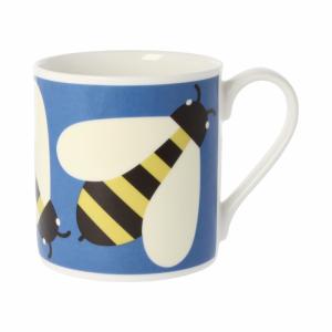 Orla Kiely Busy Bee Blue Quite Big Mug-0