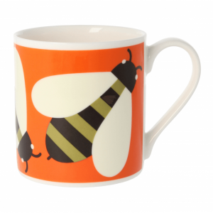 Orla Kiely Busy Bee Orange Quite Big Mug-0