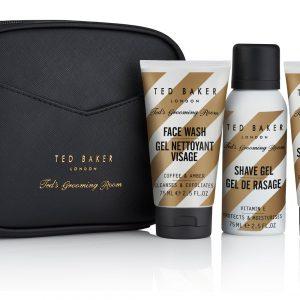 Ted Baker Mens Groom Room Travel Trio Wash Bag Gift Set -0