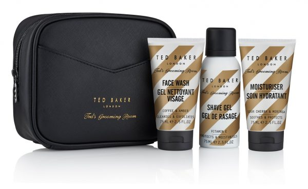 Ted Baker Mens Groom Room Travel Trio Wash Bag Gift Set -0