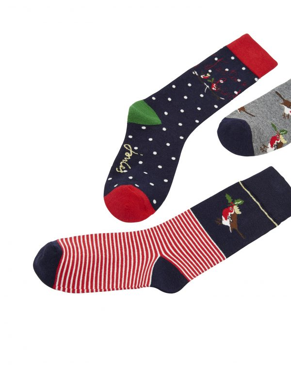 Joules Robin Cracking Socks Gift Set, Crackers Set-3044