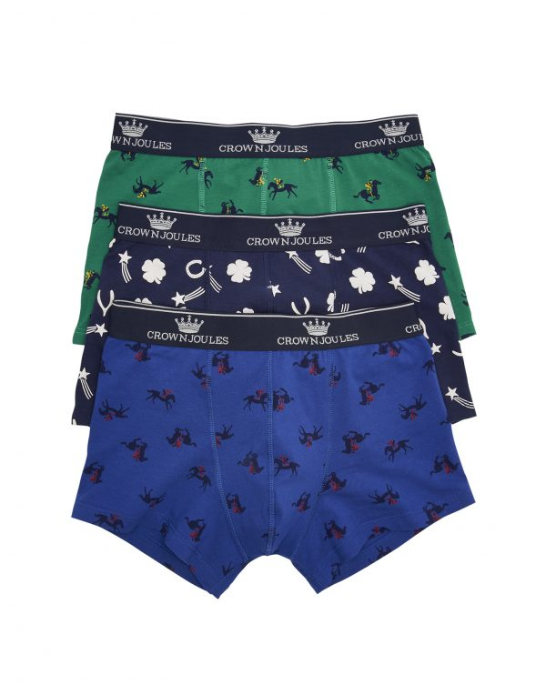 Joules Crown Joules Race Day Printed Boxers, 3 Pack-0