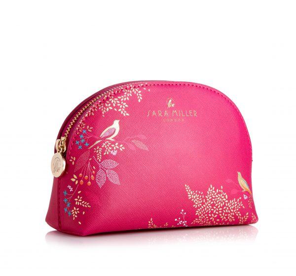 Sara Miller London Small Pink Cosmetics Bag-0