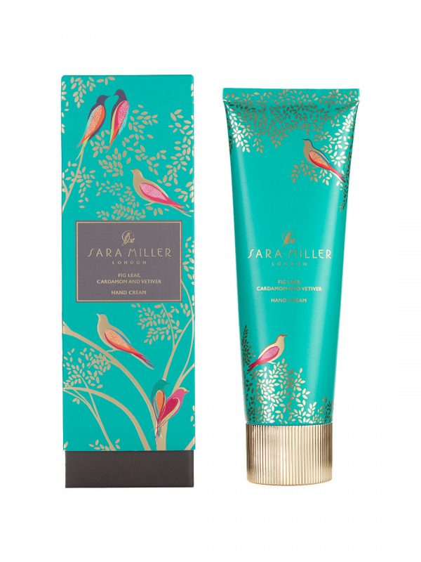 Sara Miller Fig Leaf Hand Cream, Green Birds-0