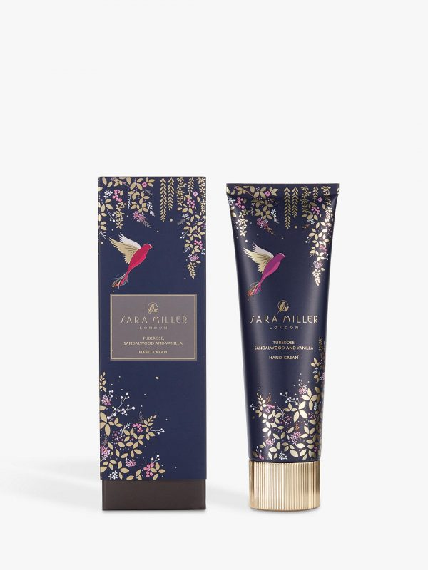 Sara Miller Tuberose, Sandalwood and Vanilla Hand Cream, Navy-0