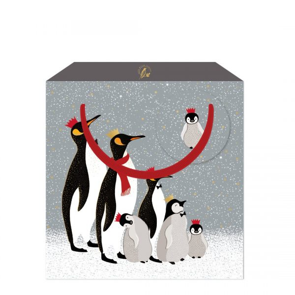 Sara Miller Family of Penguins Medium Gift Bag-0