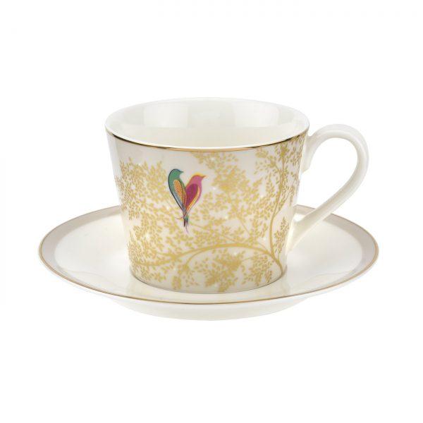 Sara Miller Grey Lovebirds Tea Cup & Saucer Gift Boxed-0