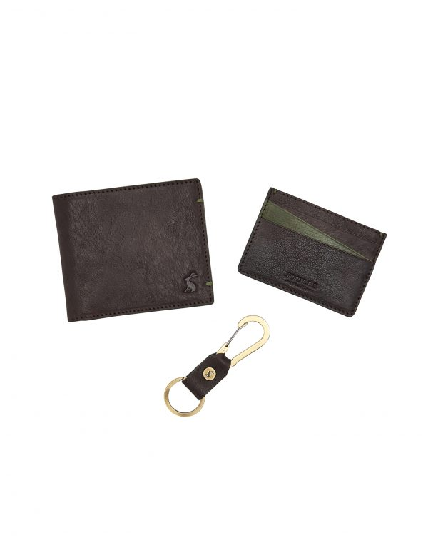Joules Brigham Mens Card Holder, Wallet & Keyring Set-0