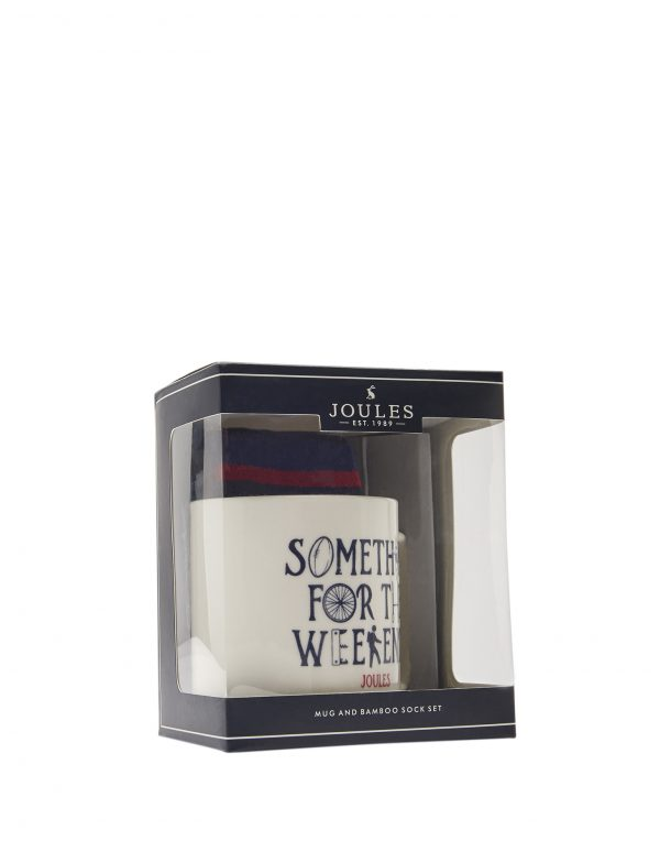Joules Men's Something For The Weekend Mug & Bamboo Sock Gift Set-0