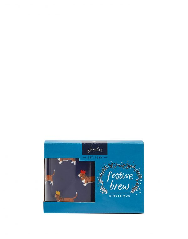 Joules Christmas Cuppa Festive Dog Mug Gift Boxed -3125