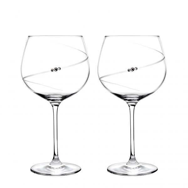 Portmeirion Auris Crystal Gin Glasses Set Of 2 Gift Boxed-0