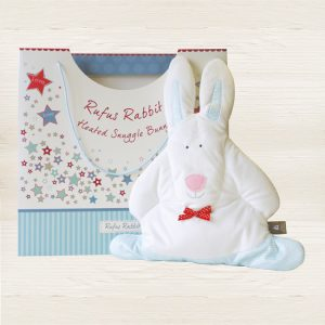 Rufus Rabbit Blue Snuggle Bunny-0