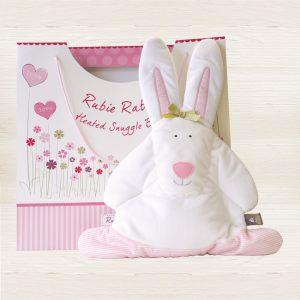 Rufus Rabbit Pink Snuggle Bunny -0
