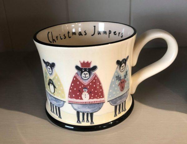 moorland christmas jumper mug