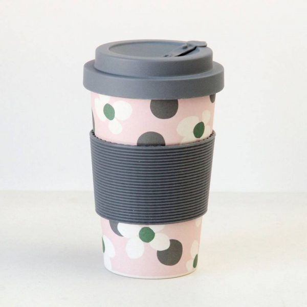 Caroline Gardner Floral Spot Bamboo Reusable Coffee Cup-0