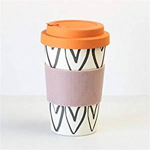 Caroline Gardner Hearts Outline Bamboo Reusable Coffee Cup-0