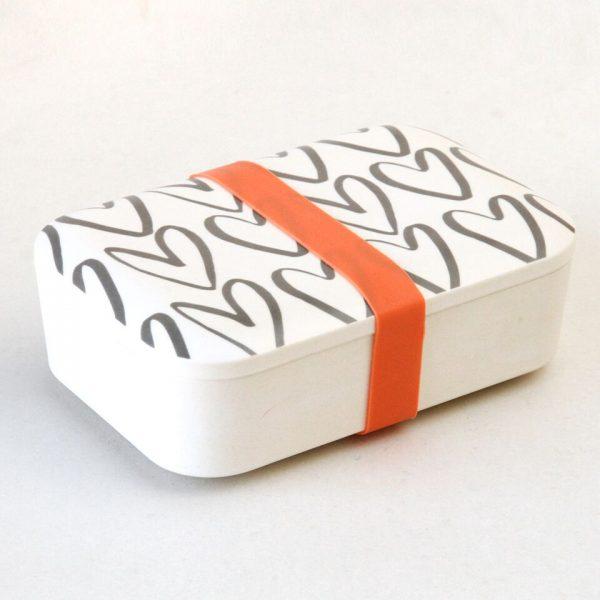 Caroline Gardner Hearts Bamboo Lunch Box-0
