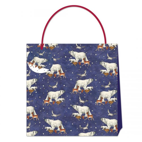Emma Bridgewater Winter Animals Polar Bear Large Gift Bag-0