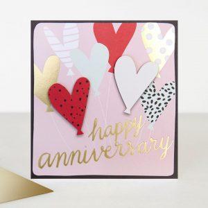 Caroline Gardner Happy Anniversary Hearts Card-0