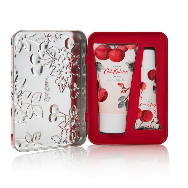 Cath Kidston Cherry Blossom Hand & Lip Tin Gift Set-0