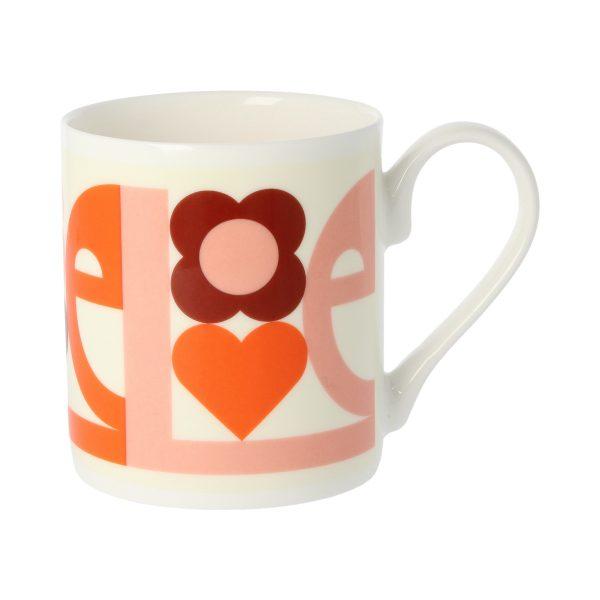 Orla Kiely Pink Love Mug-0