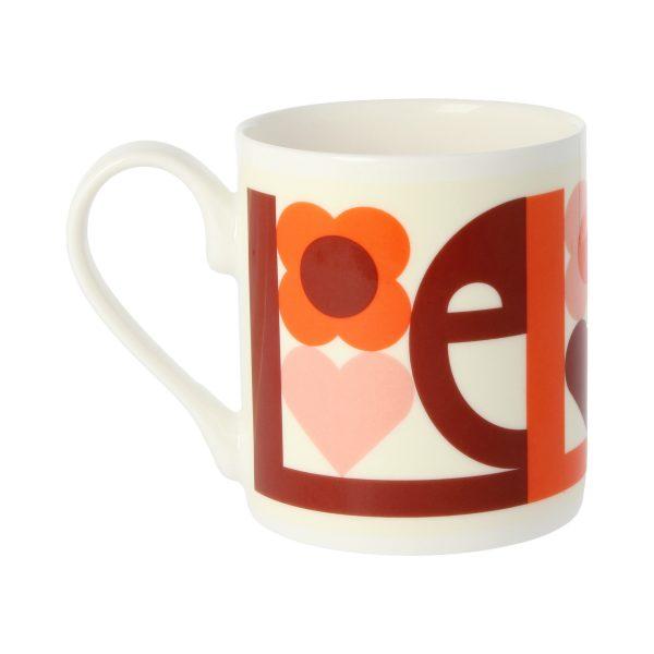 Orla Kiely Pink Love Mug-3308